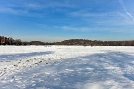 bronx county: Van Cortlandt Park in the County of the Bronx, New York in the winter.