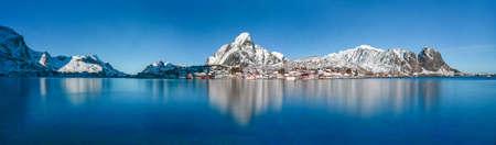 Winter in Reine, Lofoten Islands, Norway. Stock Photo