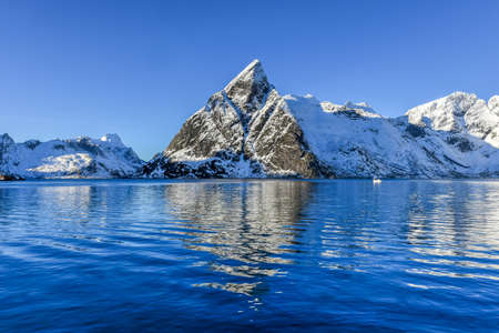 rorbuer: Winter in Olenilsoya in Reine, Lofoten Islands, Norway.