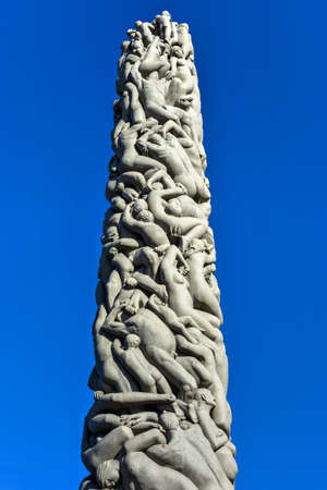 Sculpture at Vigeland Park in Oslo, Norway.