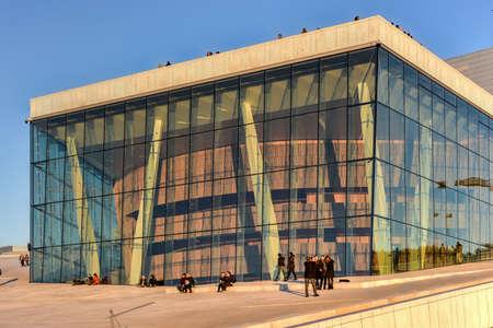 Oslo, Norway   February 27, 2016: The Oslo Opera House, Home Of