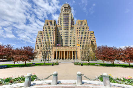 wade: Buffalo City Hall, the seat for municipal government in the City of Buffalo, New York. Located at 65 Niagara Square, the 32 story Art Deco building was completed in 1931 by Dietel, Wade & Jones.