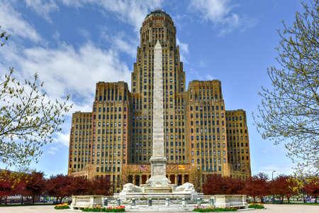 Niagara Square in Downtown Buffalo, New York, Verenigde Staten naast het City Hall.
