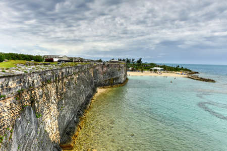 dockyard: Royal Navy Dockyard, HMD Bermuda was the principal base of the Royal Navy in the Western Atlantic between American independence and the Cold War. Stock Photo