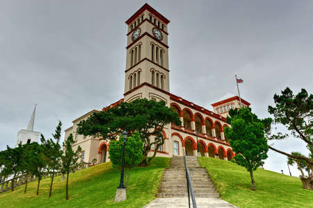 sessions: Bermuda Parliament (Sessions House) in Hamilton on Parliament Hill.