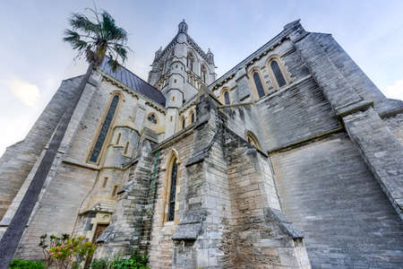 referred: The Cathedral of the Most Holy Trinity (often referred to as the Bermuda Cathedral) is an Anglican cathedral located on Church Street in Hamilton, Bermuda. Stock Photo