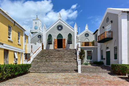 british isles: Their Majesties Chappell, St. Peters Church, in St. Georges, Bermuda, is the oldest surviving Anglican church in continuous use outside the British Isles.