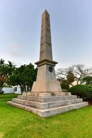 sir: Obelisk in memory of Major General Sir William Reid in Hamilton, Bermuda.
