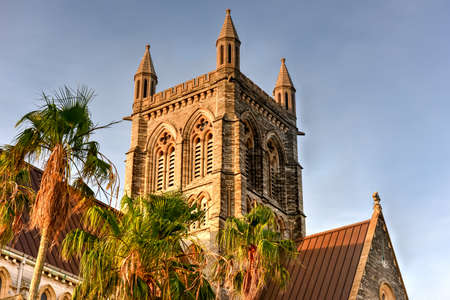anglican: The Cathedral of the Most Holy Trinity (often referred to as the Bermuda Cathedral) is an Anglican cathedral located on Church Street in Hamilton, Bermuda. Stock Photo