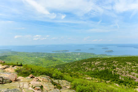 overlook: View from Blue Hill Overlook in Acadia National Park, Maine.