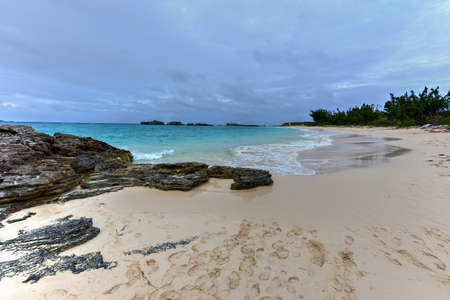 pristine: Beautiful pristine Clearwater Beach on south-eastern end of Bermuda. Stock Photo