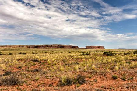 stone volcanic stones: Red Mesa rock formation in the desert of Arizona. Stock Photo