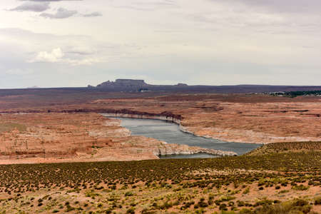 Lake Powell from the Glen Canyon Dam in Arizona, United States.