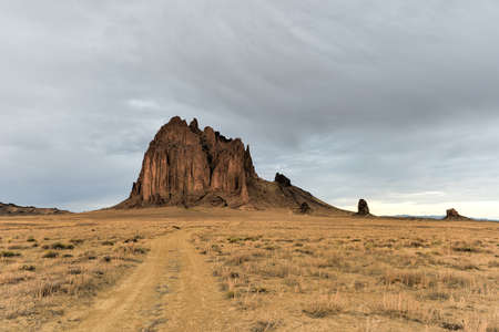 Shiprock is a monadnock rising nearly 1,583 feet above the high-desert plain of the Navajo Nation in San Juan County, New Mexico, United States.