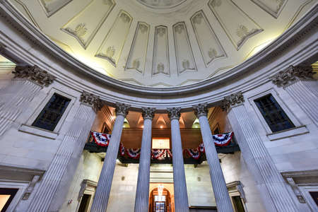 federal hall: Interior of the Federal Hall on Wall Street. George Washington took the oath of office as first President, and this site was home to the first Congress, Supreme Court, and Executive Branch offices.