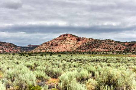 escalante: Rock formations along the Johnson Canyon Road in Utah, USA. Stock Photo