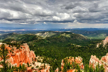 Farview Point in Bryce Canyon National Park in Utah, United States. Stock Photo