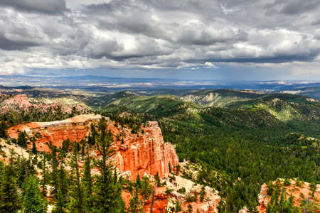 thor's: Farview Point in Bryce Canyon National Park in Utah, United States. Stock Photo