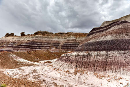 Blue Mesa in Petrified Forest National Park, Arizona, USA
