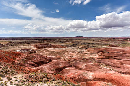 Lacey Point in the Petrified Forest National Park in Arizona. Stock Photo
