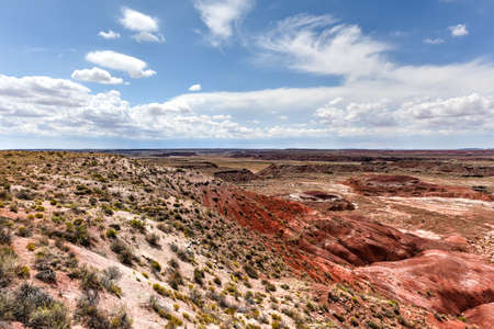 lacey: Lacey Point in the Petrified Forest National Park in Arizona. Stock Photo