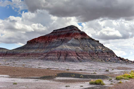 petrified: The Tepees in the Petrified Forest National Park in Arizona. Stock Photo