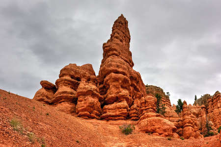 plateau point: Red Canyon at Dixie National Forest in Utah, United States. Stock Photo