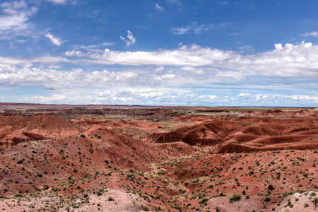 Tiponi Point in the Petrified Forest National Park in Arizona.