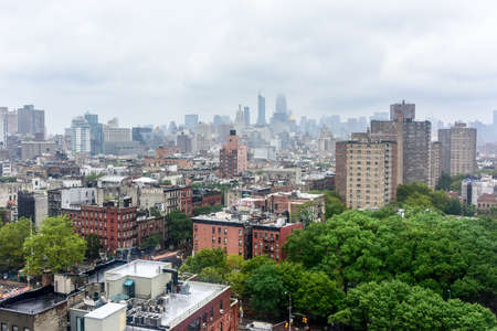 bowery: Aerial view of Lower Manhattan including the Bowery and Chinatown.