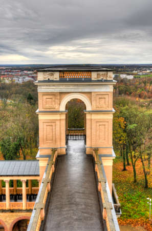 Potsdam, Germany - November 13, 2010: View of the Belvedere, a palace in the New Garden on the Pfingstberg hill in Potsdam, Germany. Frederick William IV constructed the castle in 1847.