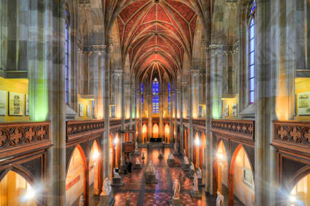 Berlin, Germany - November 8, 2010: Interior of the Friedrichswerder Church, Berlin, Germany. It was the first Neo-Gothic church built in Berlin. Editorial