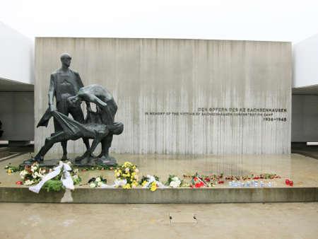 sachsenhausen: Oranienburg, Germany - November 8, 2010: Sachsenhausen National Memorial in Oranienburg, Germany. Editorial