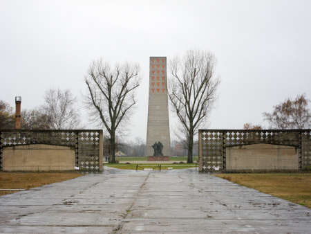 sachsenhausen: Oranienburg, Germany - November 8, 2010: Sachsenhausen National Memorial in Oranienburg, Germany. Editorial