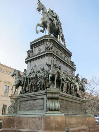 The equestrian statue of Frederick the Great is an outdoor sculpture in cast bronze at the east end of Unter den Linden in Berlin, honouring King Frederick II of Prussia.