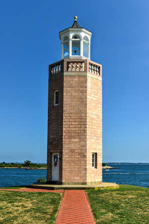 Lighthouse at Avery Point in Groton, Connecticut. Stock Photo
