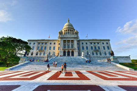 providence: The Rhode Island State House, the capitol of the U.S. state of Rhode Island.