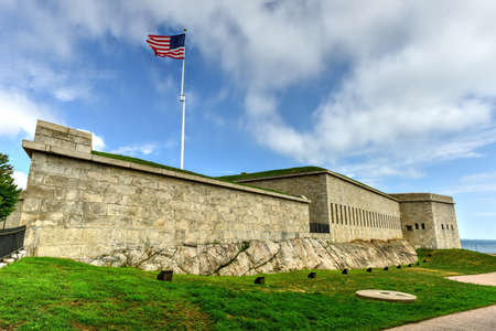 Fort Trumbull in New London, Connecticut along the Atlantic Coast, built in the Egyptian Revival style in the 19th century. Editorial