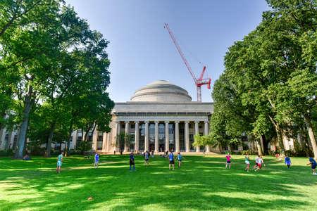 mit: Boston, Massachusetts - September 4, 2016: The Great Dome of the Massachusetts Institute of Technology.