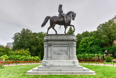 George Washington Equestrian Statue in the Public Garden in Boston, Massachusetts.