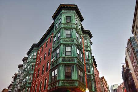 Copper Tripartite, Bay Windows in the North End neighborhood of Boston, Massachusetts.