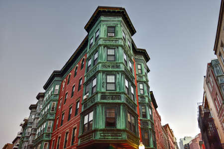 north end: Copper Tripartite, Bay Windows in the North End neighborhood of Boston, Massachusetts.