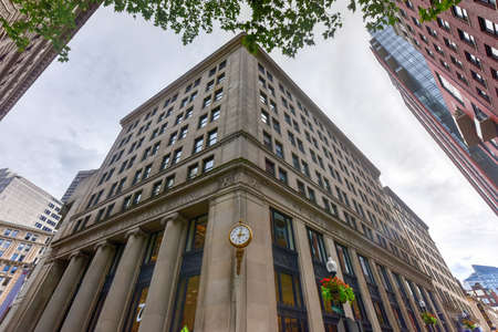 five cents: Boston Five Cents Savings Bank Building on School Street. Editorial