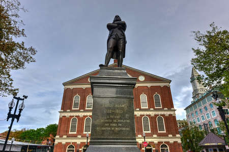 market place: A market place and a meeting hall since 1742, the Faneuil Hall in Boston was also the site of several speeches by Samuel Adams and James Otis. Stock Photo