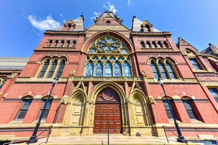 harvard university: Memorial Hall at Harvard University in Boston, Massachusetts. Memorial Hall was erected in honor of Harvard graduates who fought for the Union in the American Civil War. Editorial