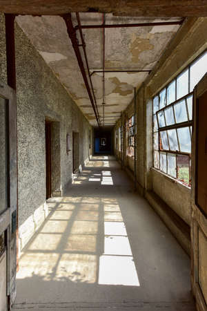 The abandoned Ellis Island Immigrant Hospital. It was the United States first public health hospital, opened in 1902 and operating as a hospital until 1930.
