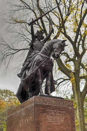 King Jagiello Monument which was created for the Polish 1939 New York Worlds Fair pavilion and later moved to Central Park in New York City.
