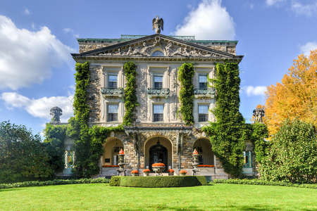 Sleepy Hollow, New York - October 21, 2012: Kykuit, the Rockefeller Estate. A grand mansion that was the Rockefeller home and is now a historic site of the National Trust for Historic Preservation.