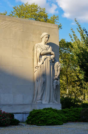 Brooklyn, New York - Sept 15, 2012: Brooklyn War Memorial in Brooklyns Cadman Plaza is dedicated to the more than 300,000 heroic men and women of the borough of Brooklyn who served in World War II. Editorial