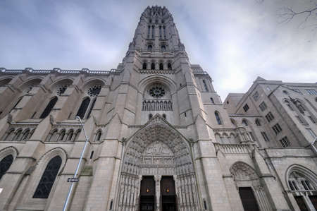 The Riverside Church in the City of New York. It is famous for its large size and elaborate Neo-Gothic architecture.