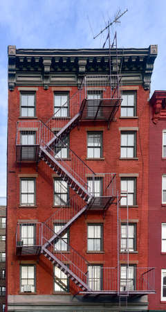 greenwich: Walkup apartment building in Greenwich Village in New York City.